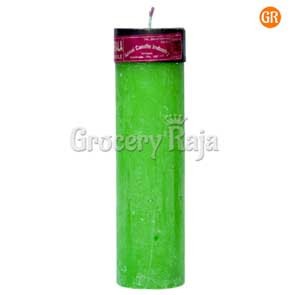 Color Pillar Candle Big 450 gms 1 Pc