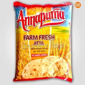 Annapurna Atta - Farm Fresh Whole Wheat 2 Kg