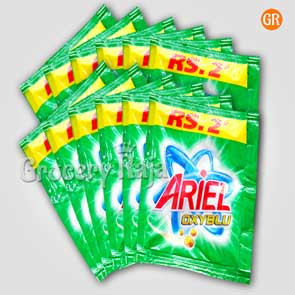 Ariel OxyBlu Detergent Powder Rs.2 Sachet (Pack of 12)