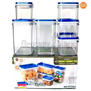 Aristo NeoFresh Airtight Container Combo Pack (Set of 6)