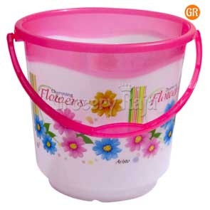 Aristo Oscar Bucket -17 Printed with Plastic Handle - Color May Vary