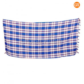 "Big Checked Cotton Bath Towels 50"" X 25"""