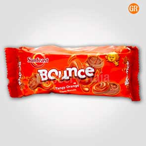 Sunfeast Bounce Tangy Orange Creme Biscuits Rs. 10