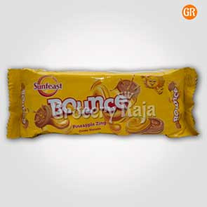 Sunfeast Bounce Pineapple Zing Creme Biscuits Rs. 10