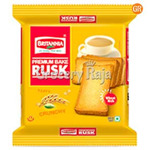 Britannia Bake Rusk - Wheat Rich 200 gms + Free Glass Bowl