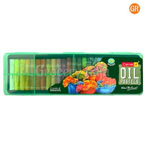 Camel Oil Pastel Crayons with Plastic Box - 25 Shades