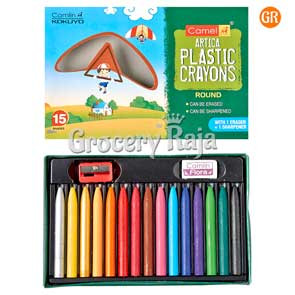 Camel Plastic Crayons - 15 Shades [5 CARDS]