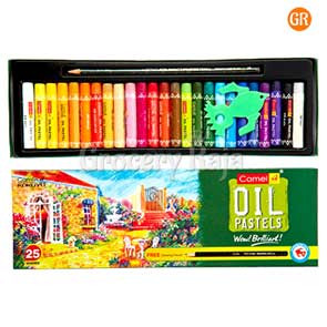 Camlin Oil Pastel Crayons with Free 1 Drawing Pencil - 25 Shades