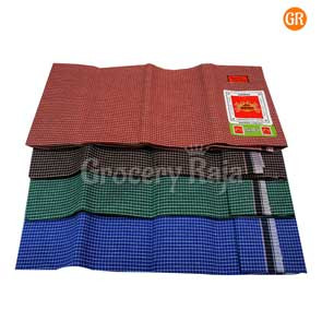 Vandu Cotton Lungi CHECKERED - UnStitched 1 pc