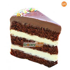 Chocolate Vanilla Cake Single Piece - 1 Slice