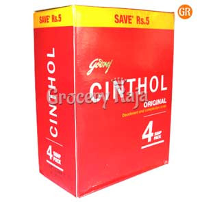 Cinthol Bathing Soap - Original 100 gms Carton (Pack of 4) + Save Rs 5