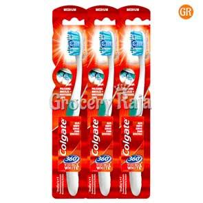 Colgate 360 Visible White Toothbrush - Medium 3 pc
