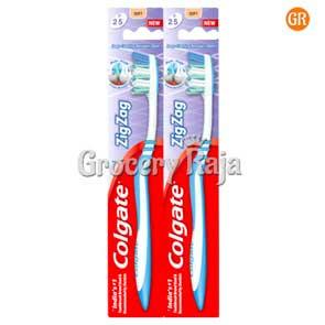 Colgate Zigzag Toothbrush - Medium 2 pc