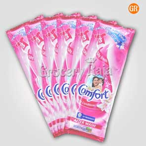 Comfort Fabric Conditioner Lily Fresh Pink 20 ml Sachet (Pack of 6)