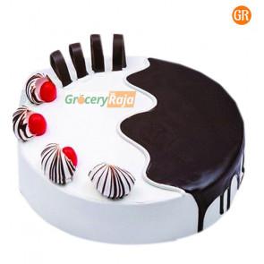 Chocolate Vanilla Cake Butter Cream 1 Kg - Single Layer
