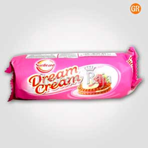 Sunfeast Dream Cream Strawberry & Vanilla Rs. 10