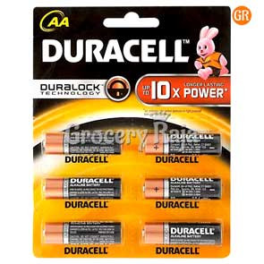 Duracell AA 10x Battery 6 nos