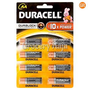 Duracell AA 10x Battery 8 nos