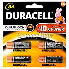 Duracell AA Battery 4 nos