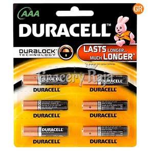 Duracell AAA Battery 6 nos