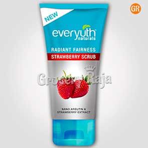 Everyuth Radiant Fairness Scrub - Strawberry 50 gms