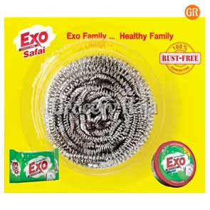 Exo Stainless Steel Dishwash Scrubber 1 pc