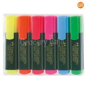 Faber Castell Highlighter Marker Pen - Pack of 5 Colors