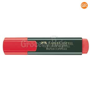 Faber Castell Highlighter Marker Pen - Red