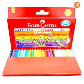 Faber-Castell Wax Crayons - 24 Shades