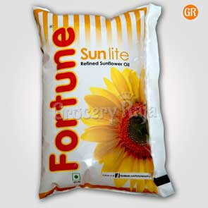 Fortune Sunlite Refined Sunflower Oil 1 Ltr + Free Bru Instant Coffee Rs. 10