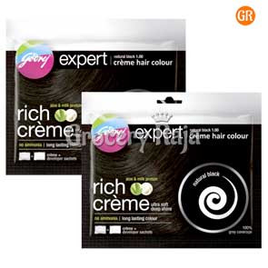Godrej Expert Creme Hair Color 20 ml Sachet (Pack of 2)