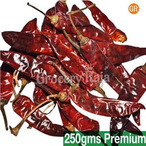 GR Dried Red Chilli - Long Vara Milagai (வர மிளகாய்) 250 gms