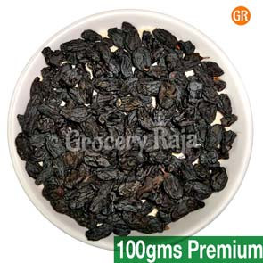 GR Dry Grapes-Raisins (Black) 1st Grade (திராட்சை) 100 gms