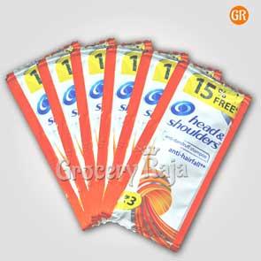 Head & Shoulders Anti Dandruff Anti Hair Fall Shampoo Rs. 3 Sachet + 15% Free (Pack of 6)