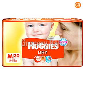 Huggies Dry Medium Diapers 5-11 Kg 30 Diapers