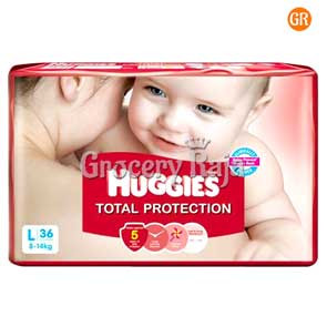 Huggies Total Protection Large 8-14 kg 36 Diapers