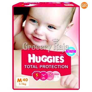 Huggies Total Protection Medium (5-11 Kg) 40 Diapers