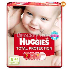 Huggies Total Protection Small Up to 7 Kg 46 Diapers