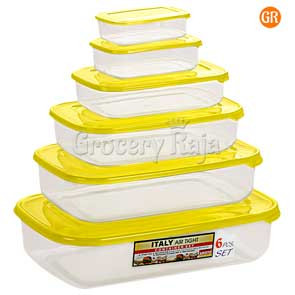 Aristo Italy Air Tight Containers 6 pcs Set