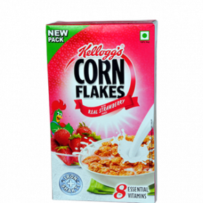 Kelloggs Real Strawberry Puree Corn Flakes 575 gms