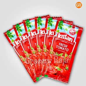 Kissan FreshTomato Ketchup Rs. 2 Sachet (Pack of 6)
