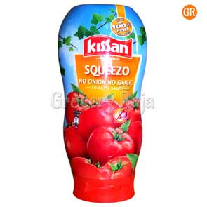 Kissan Squeezo No onion No Garlic Tomato Sauce 450 gms
