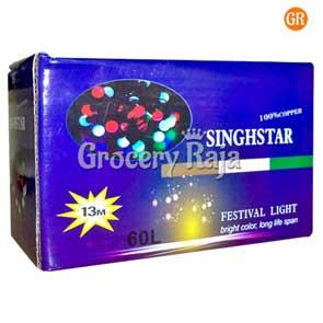 LED Multicolor Decoration Light Big Ball Design Black Wired 13 Meters