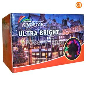 LED Multicolor Decoration Light Star Design Black Wired 13 Meters