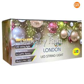 LED String Light Multicolor Black Wired 5 Meters