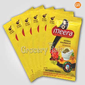 Meera Herbal Hairwash Powder Rs. 4 Sachet (Pack of 6)