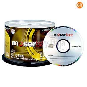 Moser Baer CD (Pack of 100) [72 CARDS]