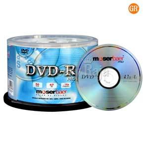 Moser Baer DVD (Pack of 100)
