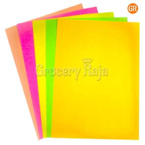 Multi Colour Paper A4 Size 100 Sheets