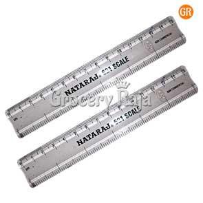 Nataraj Scale 15 cm Transparent (Pack of 2)
